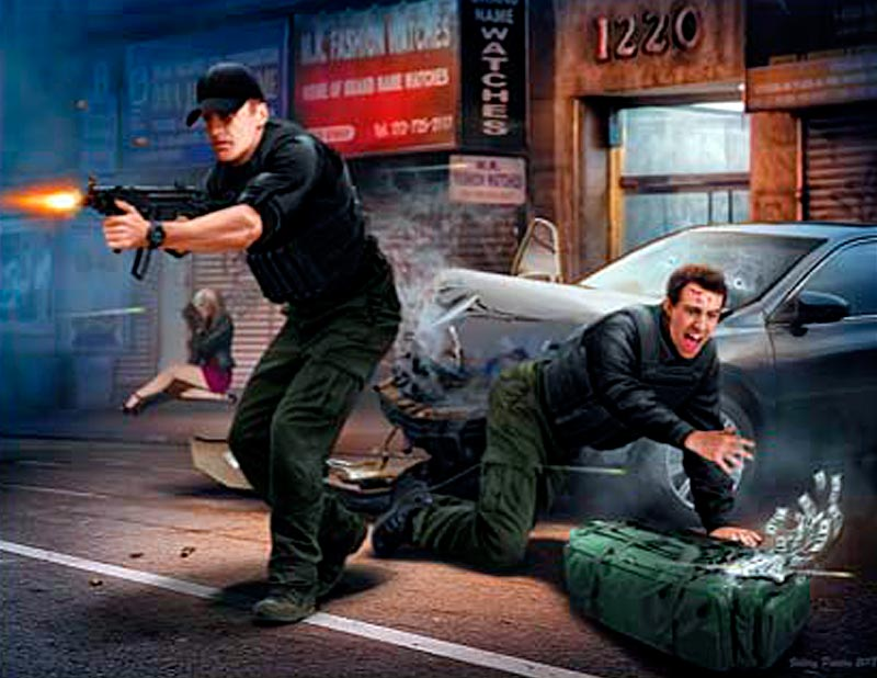 The Heist series, Kit №1. Shots fired – Officer needs assistance, civilian casualties reported, Request back-up ASAP!!! Sgt Jack Melgoza and Patrolman Sally Taylor /24064/