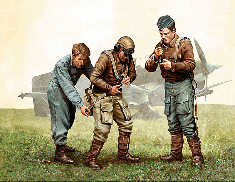 Pilots of Luftwaffe, WW II era /3202/