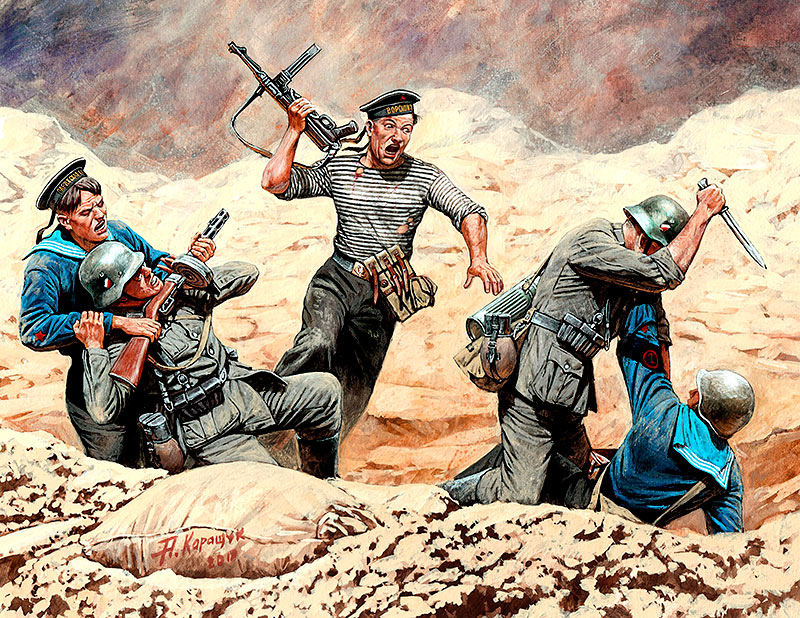 Soviet Marines and German Infantry, Hand-to-hand Combat, 1941-1942. Eastern Front Battle Series, Kit No. 2 /35152/