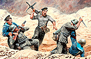 Soviet Marines and German Infantry, Hand-to-hand fight, 1941-1942. Kit No 2 /35152/