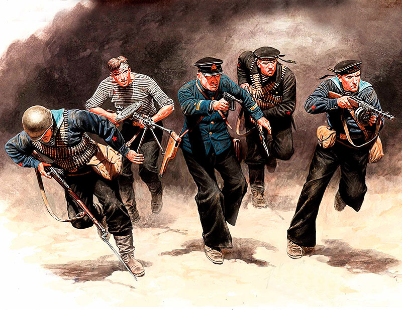 Soviet Marines, Attack, 1941-1942. Eastern Front Battle Series, Kit No. 3 /35153/
