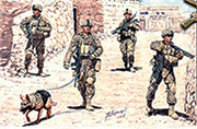Modern US infantrymen. Cordon and Search /35154/
