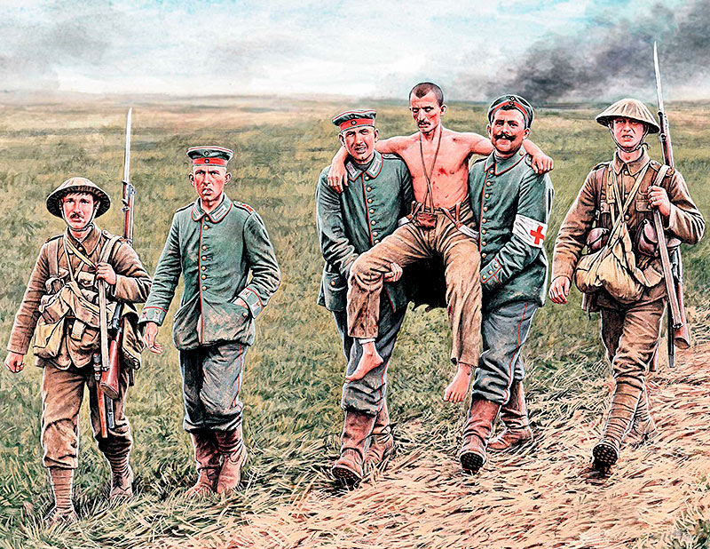 British and German soldiers, Somme Battle, 1916 /35158/