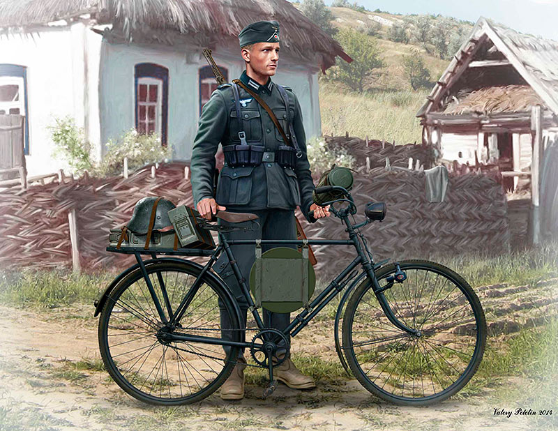 German soldier-bicyclist, 1939-1942 /35171/