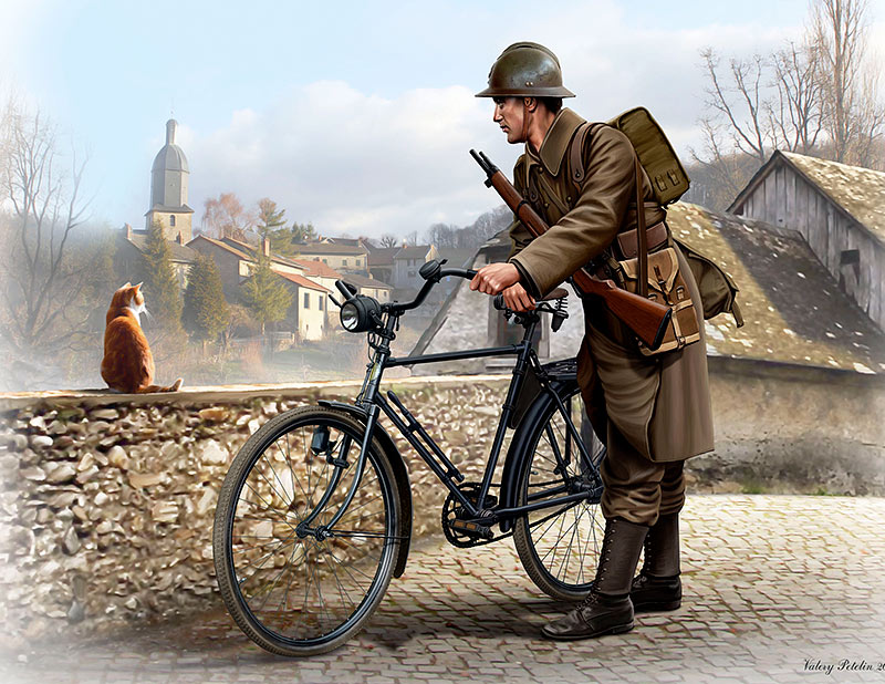 French soldier, WWII era /35173/