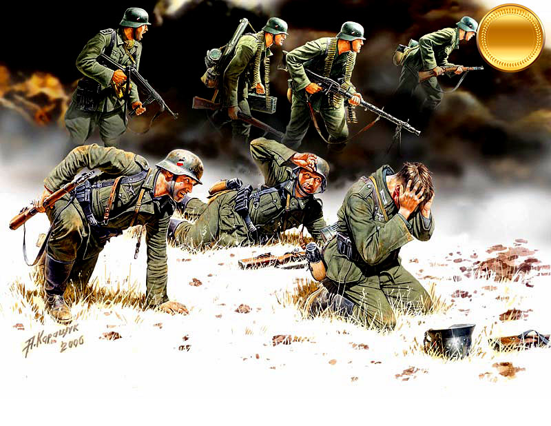 German Panzergrenadiers, 7 fig. /3518/