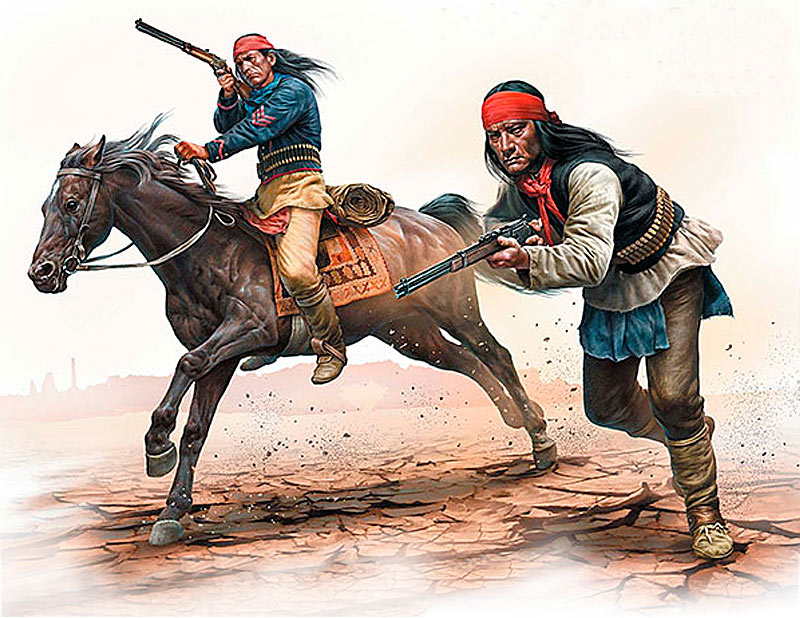 Indian Wars Series, kit No.1. Apache Attack /35188/