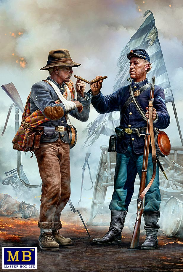 Family Reunited - Brothers Meet Again. End of the War – Confederate army surrenders to Federal troops. Appomattox, Virginia, April 9th, 1865. American Civil War series /35198/