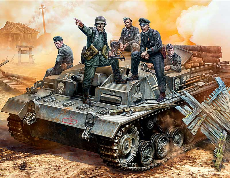 German StuG III Crew. WW II era. Their position is behind that forest!/35208/