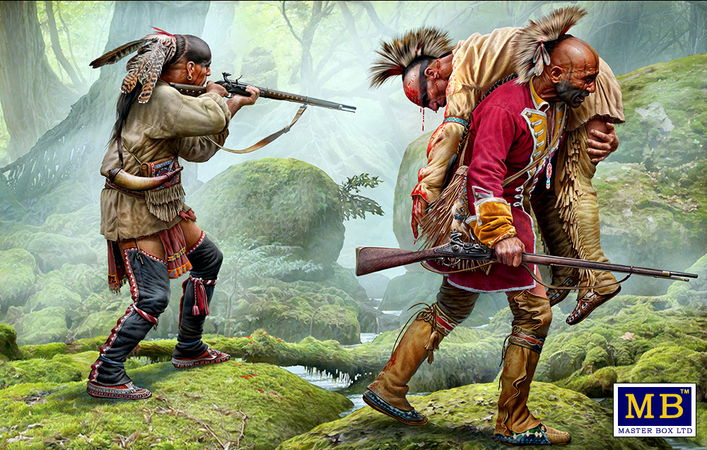 Wounded brother. Indian Wars series, XVIII century. Kit No. 2/35210/