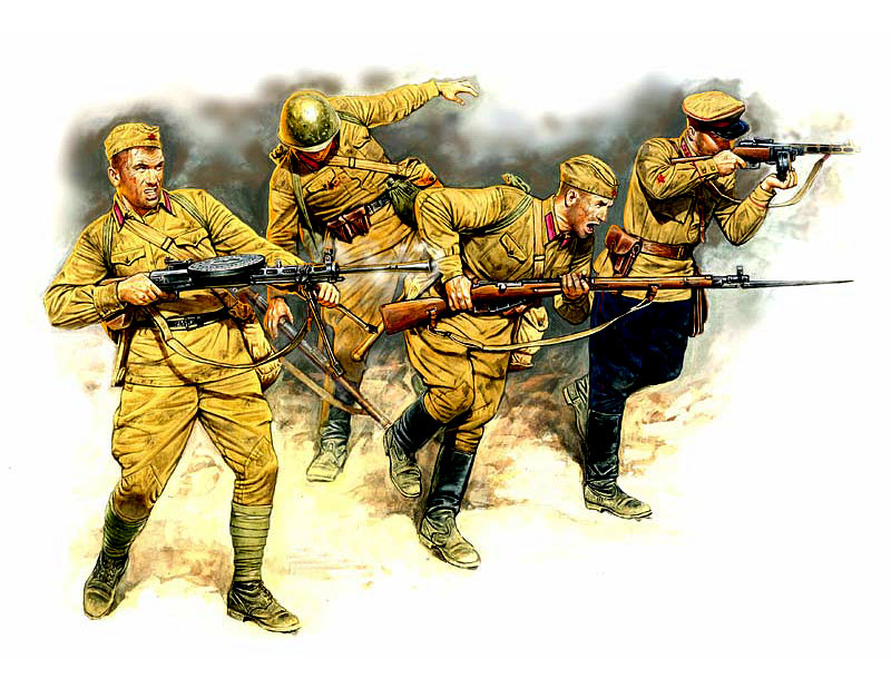 Frontier fight of summer 1941, Russian Infantry (4 fig.) /3523/