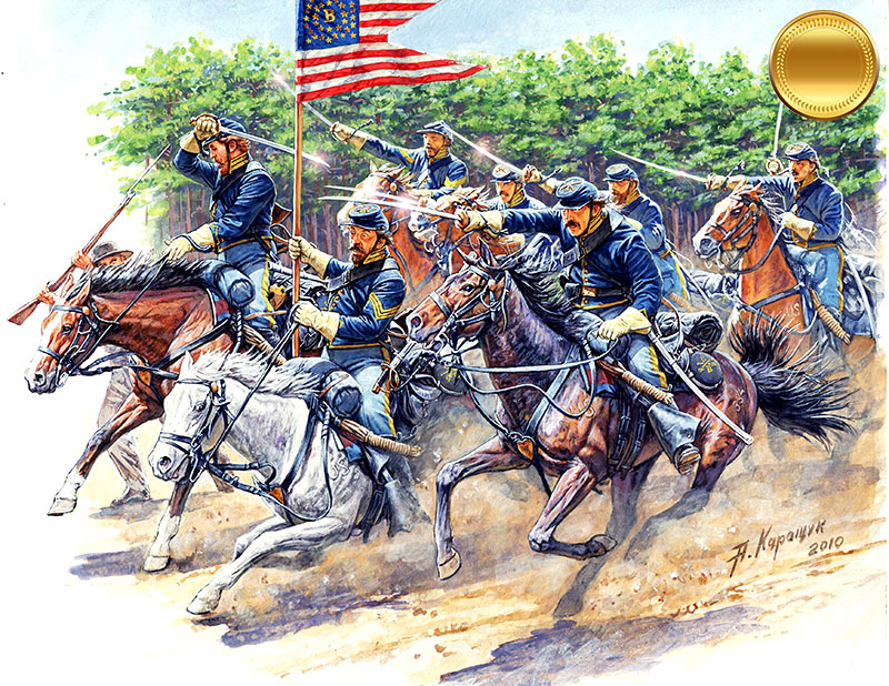 8th Pennsylvania Cavalry 89th Regiment Pennsylvanian Volunteers, Battle of Chancellorsville, May, 2nd, 1863. American Civil War Series. Attack! /3550/