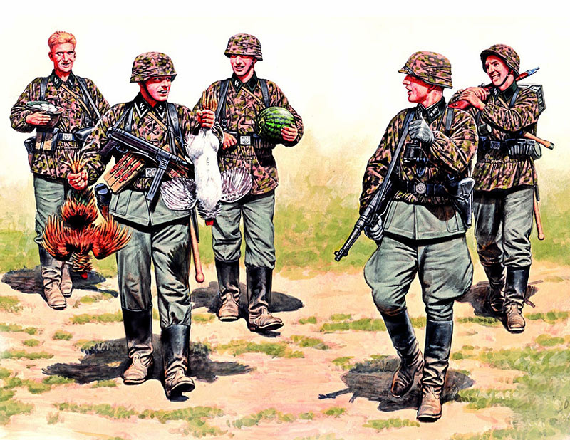 German Elite Infantry, Eastern Front, WW II era /3583/