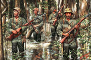US Marines in Jungle, WW II era /3589/