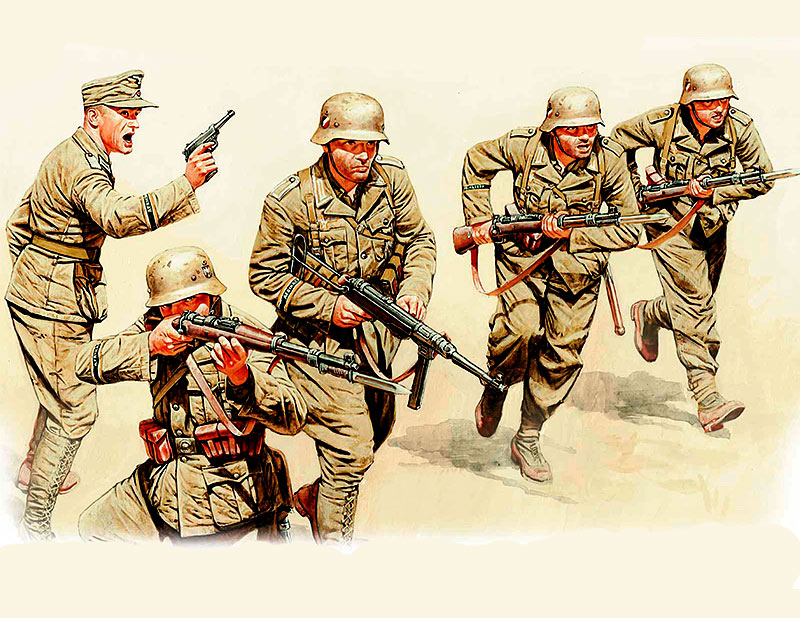 German Infantry, DAK, WWII, North Africa desert battles series /3593/