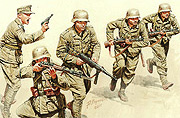 German Infantry, DAK, WWII, North Africa desert battles series /3593//