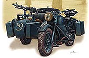German motorcycle, WWII