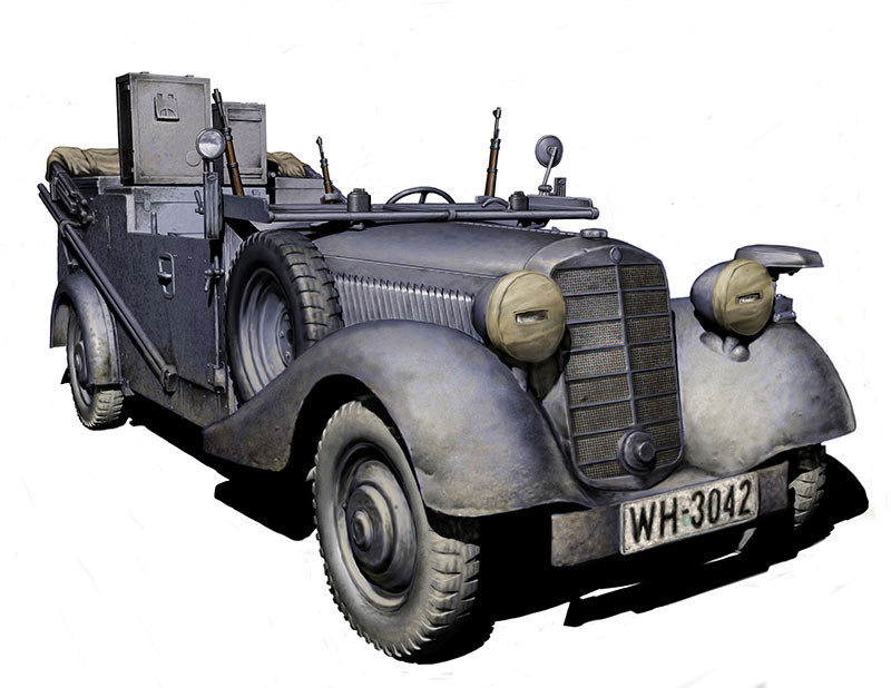 Sd. Kfz. 2 Type 170 VK, German military radio car, WW II era /3531/